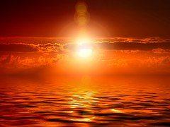 Gelbe Sonnen-Welle
